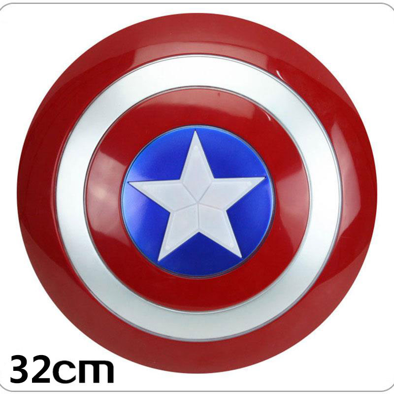 32CM Luminous Avengers Captain America Shield Sound Cosplay Toy Shields Avengers Captain America Shield Action Figure the avengers civil war captain america shield 1 1 1 1 cosplay captain america steve rogers abs model adult shield replica