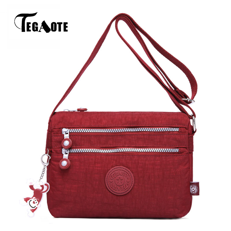 TEGAOTE Small Shoulder Bags Female Solid Zipper Bags Handbags Women Famous Flap Mini Nylon Beach Crossbody Bag Sac A Main 2017 tegaote beach bag female bags handbags women famous brand nylon messenger crossbody shoulder bag bolsa feminina sac a main 2017