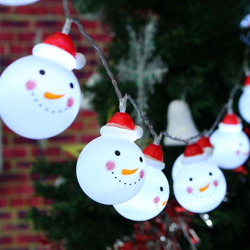 10 LED Snowman String Fairy Light Lamp Christmas Tree Xmas Party Wedding Decor EL356-in LED ...