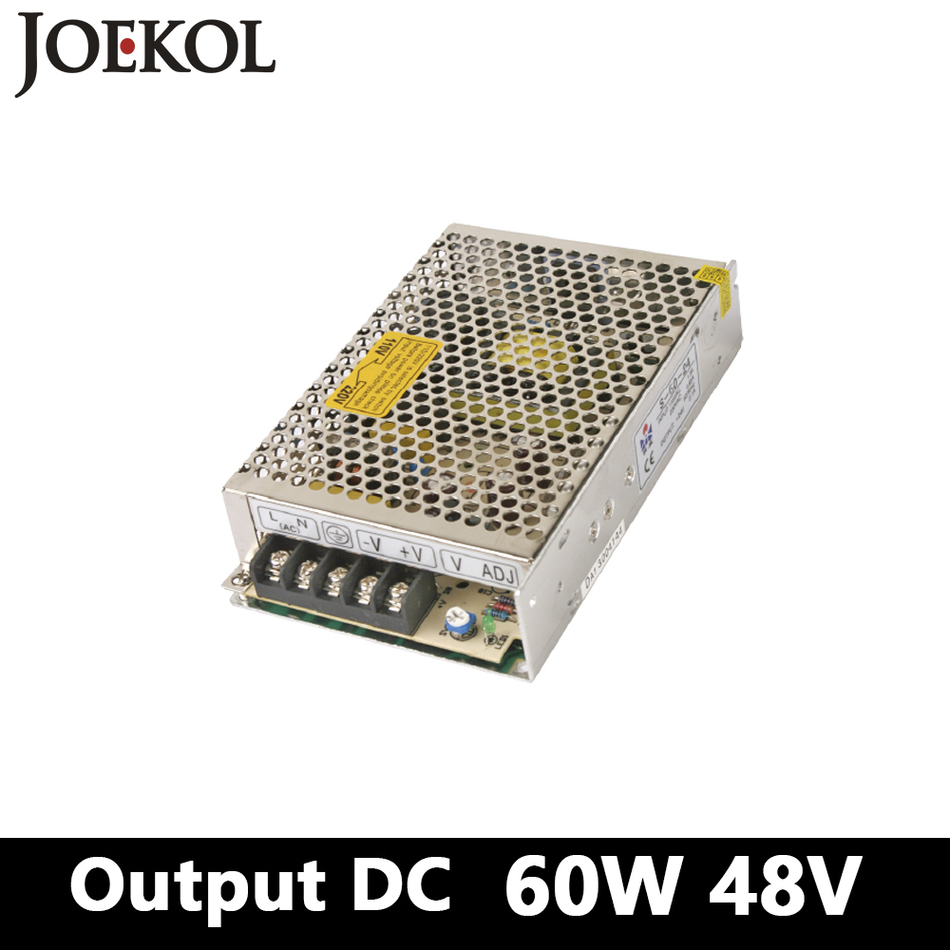 ac dc converter 60W 48V 1.2A,Single Output DC watt power supply for Led Strip,switching power supply AC110V/220V to DC 48V switching power supply 100w 48v 2a single output ac dc converter for led strip ac110v 220v transformer to dc 48v led driver