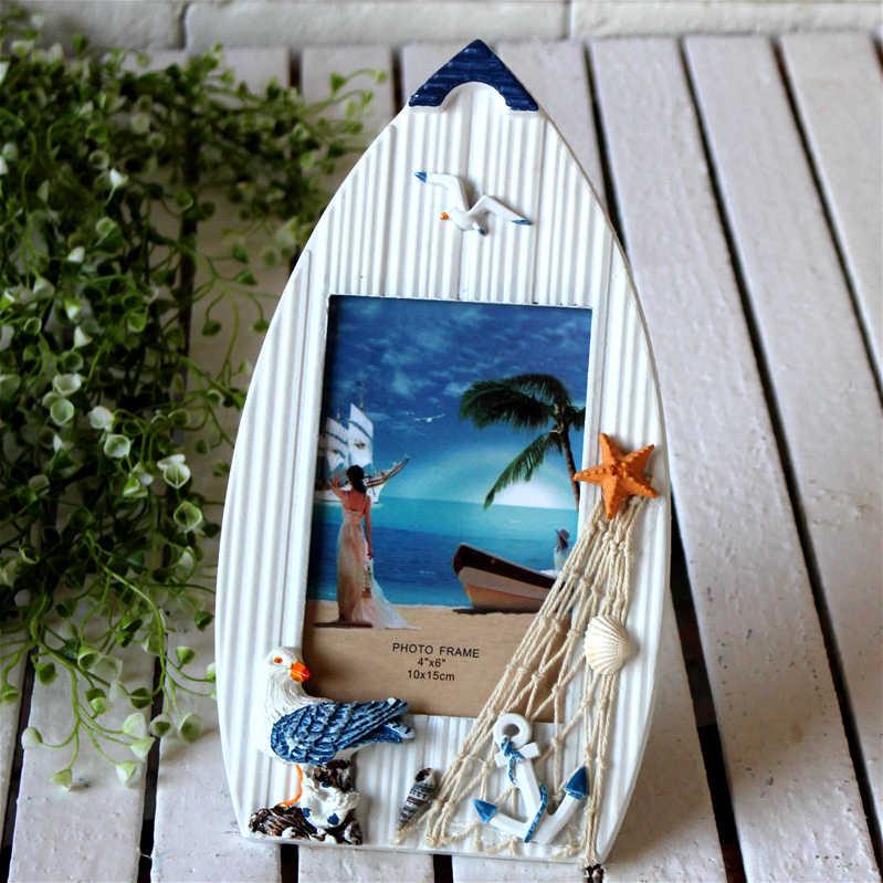 Fast การจัดส่งงานแต่งงาน - Creative ตกแต่ง Mini เมดิเตอร์เรเนียนสไตล์ตกปลาปลาดาวเรือใบกระดานโต้คลื่นกรอบรูป