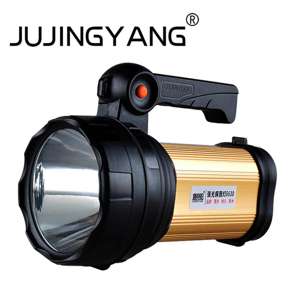 Super bright Portable Marine Searchlight 30w LED Flashlight Rechargeable Police Torch Fishing Lamp Camping led Hunting