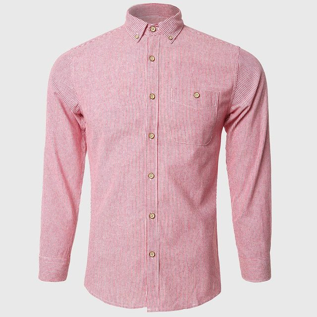 Aliexpress.com : Buy Men Pink Striped Shirts Gentleman Work Shirt ...