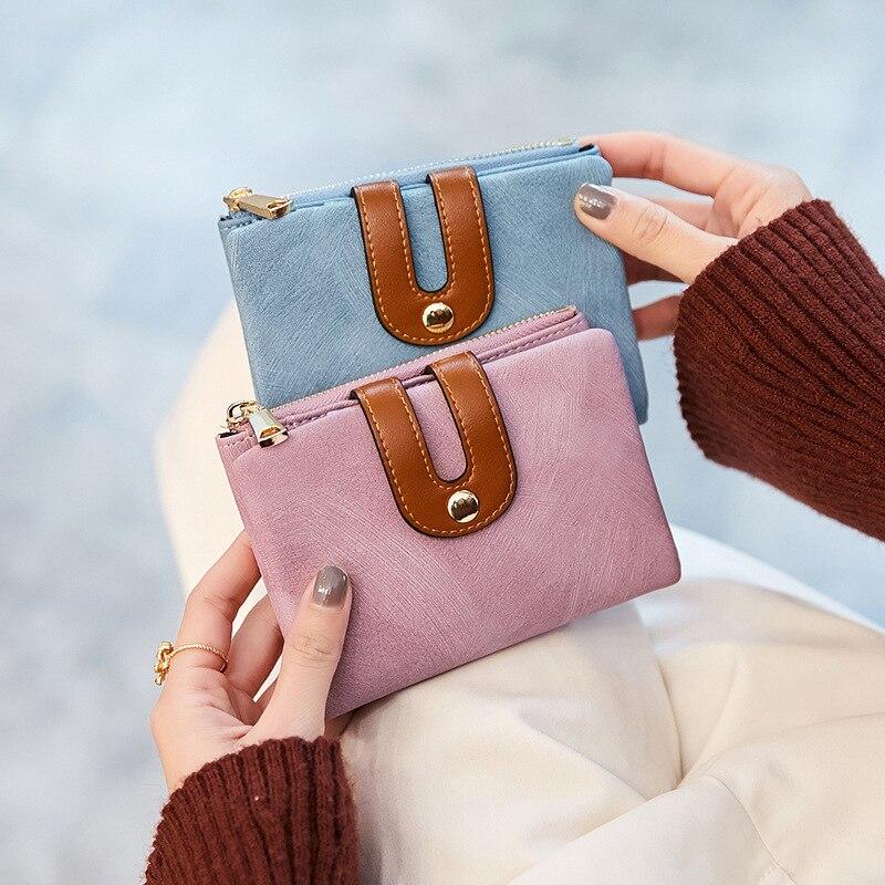 los Handtaschen 20 Leave Kleine Zwei Geldbörse Student Neue Einfache Message Kurz A Frauen Geld Falten Korea 2018 Halter Stil Teile aqqT15wF