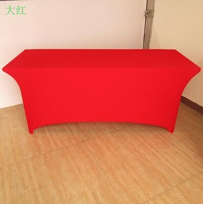 4 ft Black Dj Table Cover Stretch Scrim Spandex Type Table Skirt Facade Cover Up CR-908