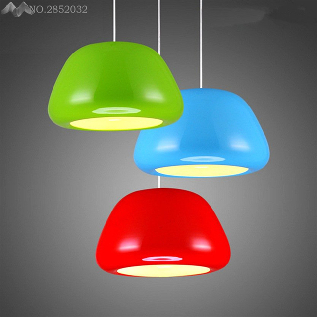 Nordic Modern Pendant Lamp Colorful Apple Aluminum Hanging Light For Living Room Cafe Restaurant Bar Bedroom
