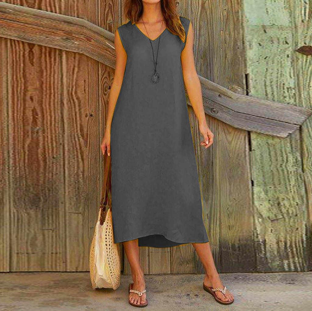 レディースセクシーなドレス自由奔放に生きるマキシロングドレスファッションイブニングパーティービーチサンドレス固体ドレス vestidos デ · フィエスタ