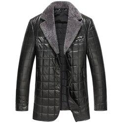 2016 new arrival winter 100 sheepskin thick casual plaid jacket men genuine leather business blazer men.jpg 250x250