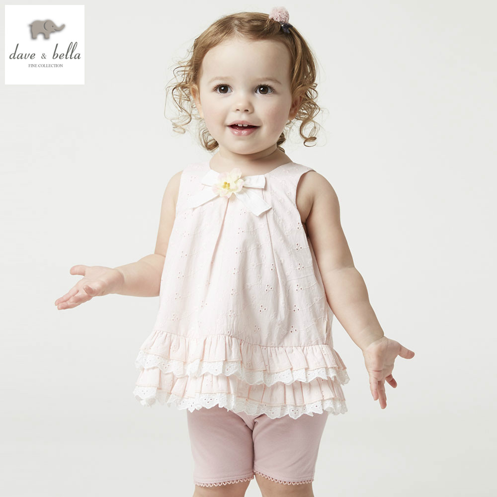 DB5025 dave bella summer baby girls clothing sets children sweet sets toddle cloth kids sets baby children sets fancy clothes db4367 dave bella summer baby girl princess light blue clothes childs sweet dresses kids toddle children dress