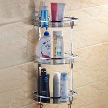 Three layer Stainless steel 304 bathroom shelf shower room rack for body wash bottle toilet table shelf dresser rack holder