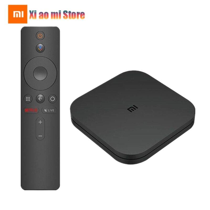 Version mondiale Xiao mi TV Box S 4K HDR Android TV Box Strea mi ng lecteur multimédia Google Assistant télécommande décodeur Smart TV mi Box 4-in Décodeurs TV from Electronique    1