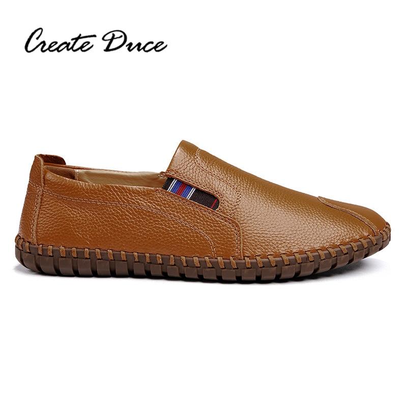 Pois Élastique Chaussures Créer brown Cuir Cousu blue Black Main Hommes Bande En Duce white Confortable Casual wnTqYBEITx