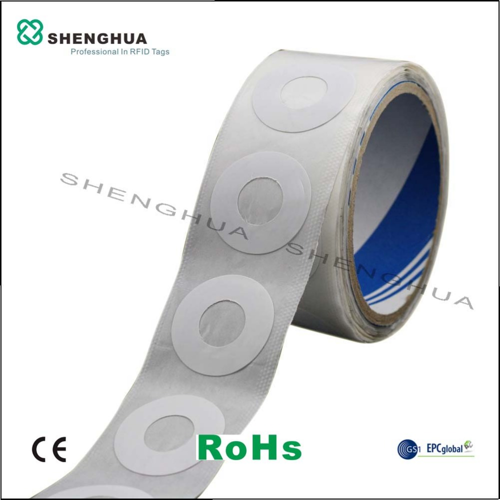 10pcs/pack 860-960MHz UHF Disc RFID Tag CD DVD Label Sticker Disc Tag Paper Round 35mm For Security Alarm System