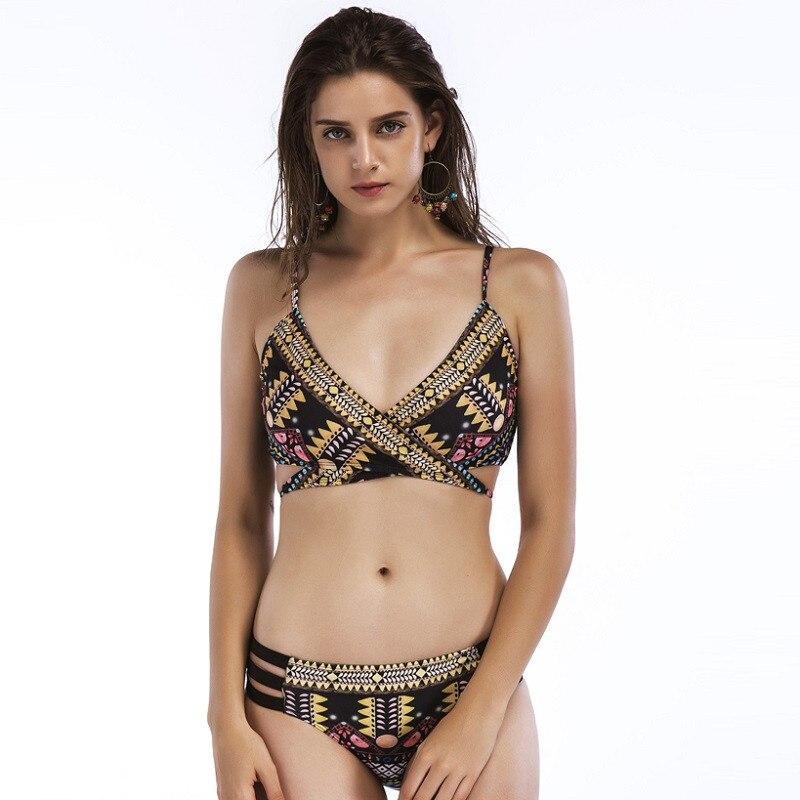 2018 National Style Two Pieces Biquinis Feminino New Arrivals Bikini Set Swimwear Women Biquini Swimsuit Women Bikinis K19