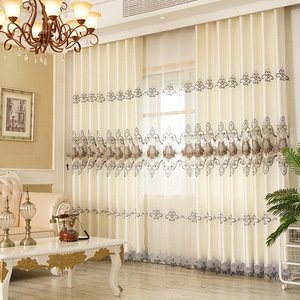 Image 4 - Curtains for Living Dining Room Bedroom New European Style Water Soluble Embroidery Curtain Tulle Valance for Windows Drapes