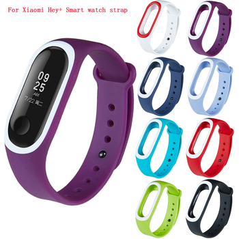 Colorful Soft Silicone Replacement Strap Sports Watch Strap for Xiaomi Hey+ Smart Fitness Bracelet Accessories WristBand Strap image