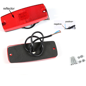 Image 3 - 2 stücke AOHEWEI 10 30 V LED rot seite marker hinten licht anzeige lampe mit reflektor für anhänger lkw lkw ECE Zustimmung