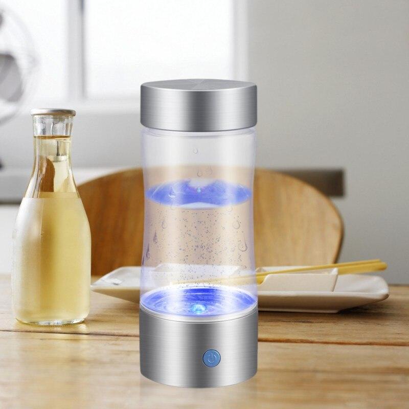 Wasserstoff Reiche Wasser Tasse 350 ml Gesundheit Teetassen Negative Ionen Tassen Energie USB Aufladbare Gesundheit Pflege Portable Tasse für Geschenk #