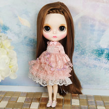 где купить Latest Factory Price 1/6 Blyth Doll Joint Body Fashion BJD 30cm With Long Straight Hair And Clothes Dolls Toys Gift по лучшей цене