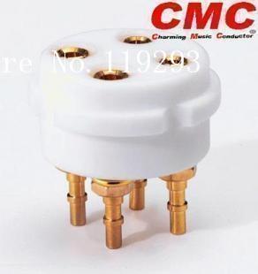 [BELLA]CMC TFT Teflon 4P 4 -pin socket is suitable for 300B 2A3 , etc.--5pcs/lot[BELLA]CMC TFT Teflon 4P 4 -pin socket is suitable for 300B 2A3 , etc.--5pcs/lot
