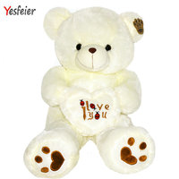 50-100 cm Dolması Peluş Oyuncak Holding AŞK Kalp Big Peluş Ayıcık Yumuşak Hediye Sevgililer Günü Doğum Günü için kızlar