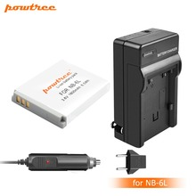 1Pcs NB-6L NB6L NB 6LH 6L Battery + Portable Wall Charger for Canon IXUS 310 SX240 SX275 SX280 SX510 HS 95 210 300 S90 S95 L20
