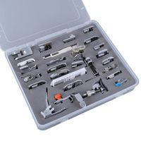 52pcs Domestic Sewing Machine Braiding Blind Stitch Darning Presser Foot Feet Kit Set For Brother Singer Janome Sew Accessories