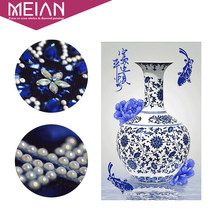 Meian,DIY,Diamond Painting,Special Diamond Embroidery,Blue and White Porcelain,Diamond Mosaic,Bead Picture,Home Diamant Decor(China)