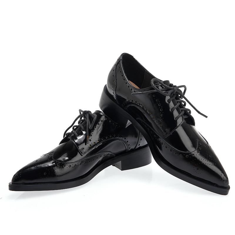 nuove donna tacco vera a Moda Asum nero 2018 scarpe punta classico Donna basso quadrato alto tacco pelle scarpe in tacco fPBqBUcwt