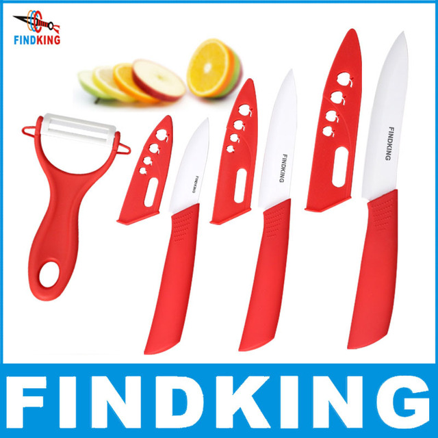 "Beauty Gifts Zirconia Ceramic kitchen knife set  3"" 4"" 5"" inch+peeler+Covers"