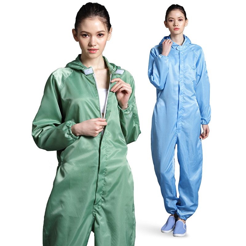 Anti static Coveralls Clean Clothes Hood Cleanroom Garments Clean food Dust proof Paint Work Clothing Unisex Protective overalls-in Safety Clothing from Security & Protection
