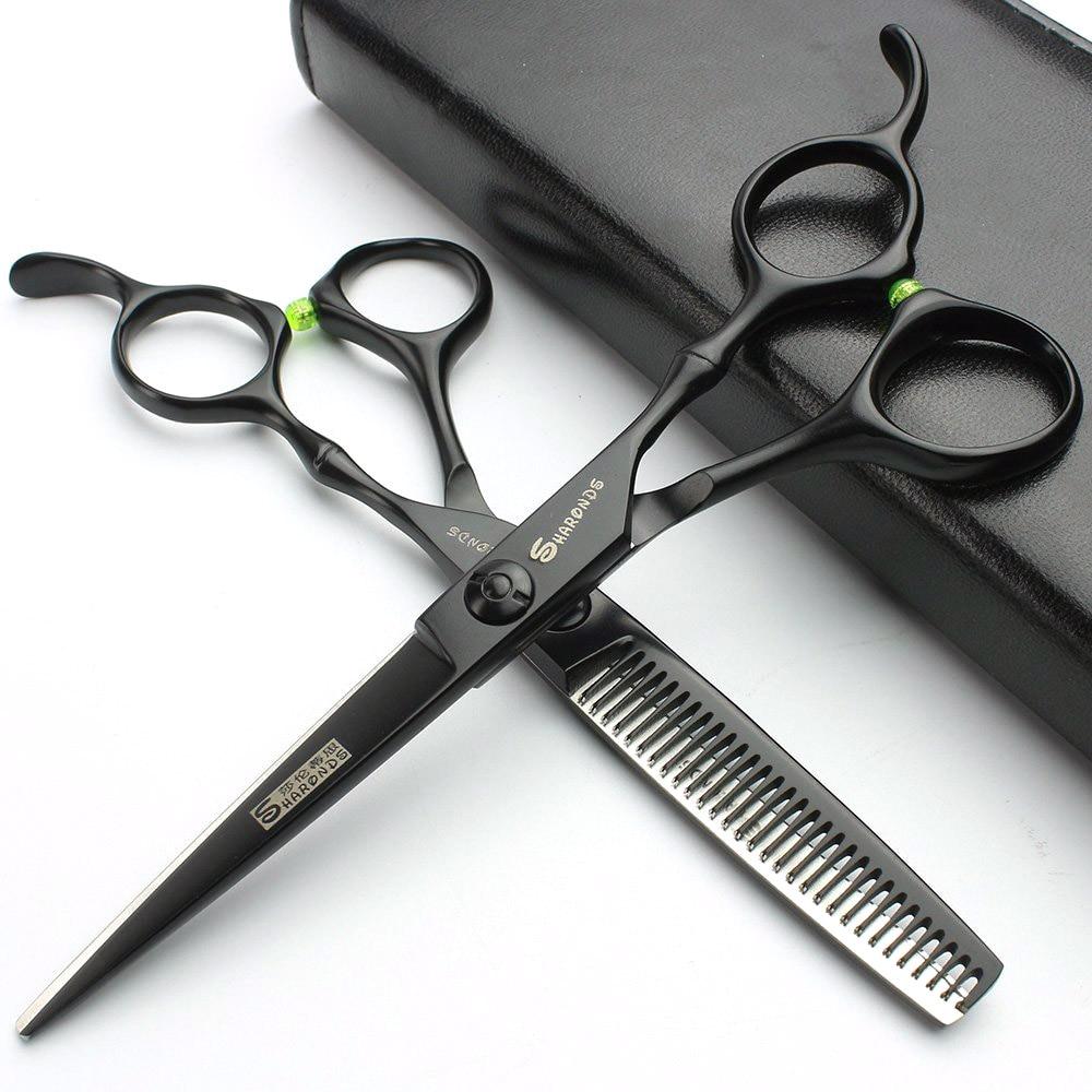 """6 """"crna japan440c makaze za kosu frizerski setovi za kosu japanske frizerske škare škare za brijač"""