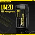 Nitecore UM20 5V USB Power LCD Intelligent Li-ion IMR Battery Charger USB Charging With USB port