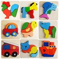 Wooden Puzzle Toy Kid Child Cartoon Animal 3D Jigsaw Puzzles Board Games Educational Toys for Children