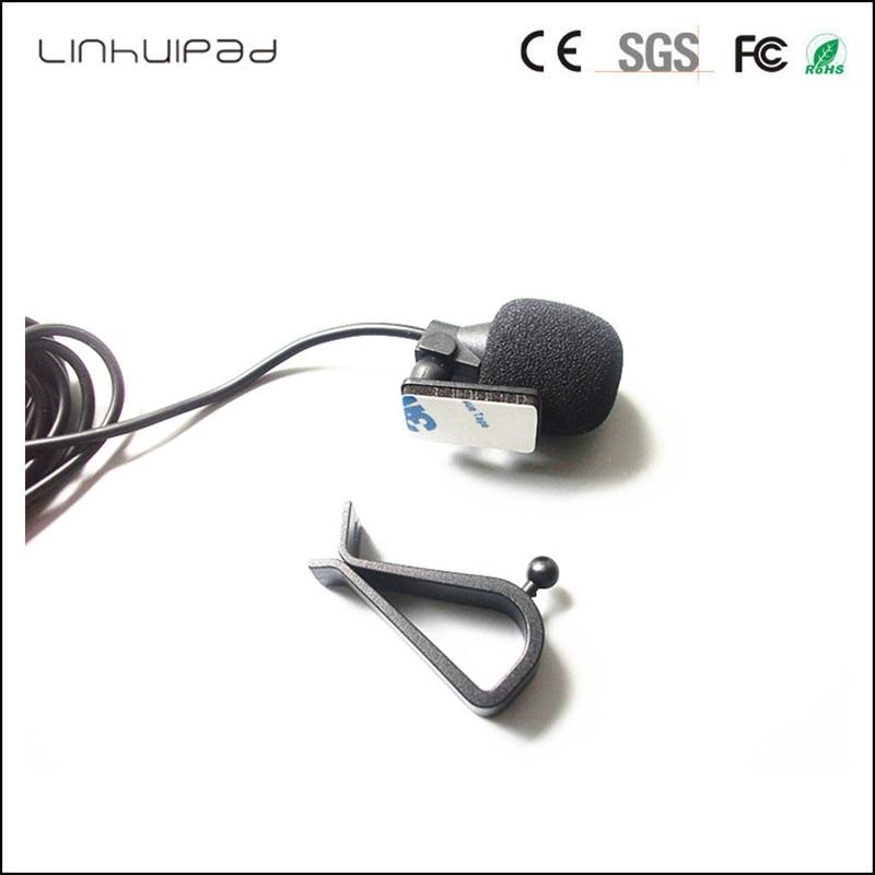 Image 2 - Linhuipad  3.5 mm Mono Audio collar Microphone Mini Wired External Car Mic For GPS Car DVD Player Radio Audio Microphone 2 PCS-in Microphones from Consumer Electronics on AliExpress