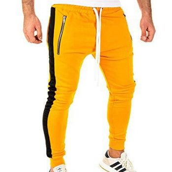 yellow men jogging pants fitness pants