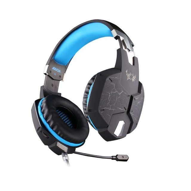 EACH G1100 Deep Bass Gamer Headset Stereo Surrounded Gaming Headphone Headband Earphone with Led Light for Computer PC Game