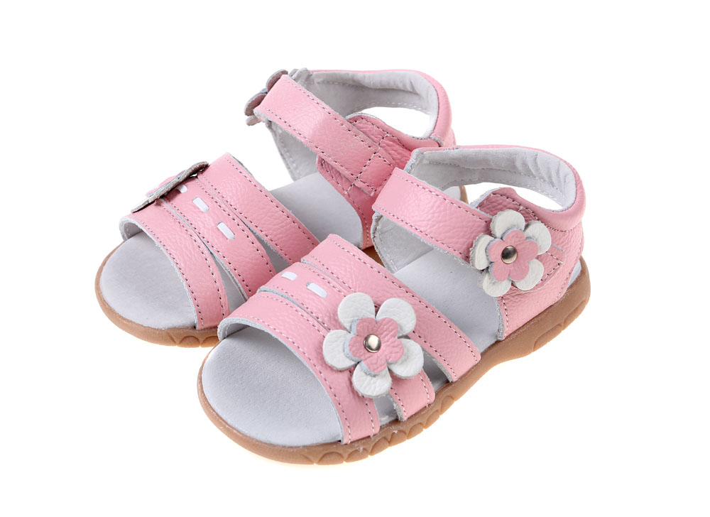 Sandq детский кожаные туфли, сандалии для девочек, розового цвета с открытым носком; сандалии для девочек с цветочным рисунком для девочек, Новое поступление, розничная