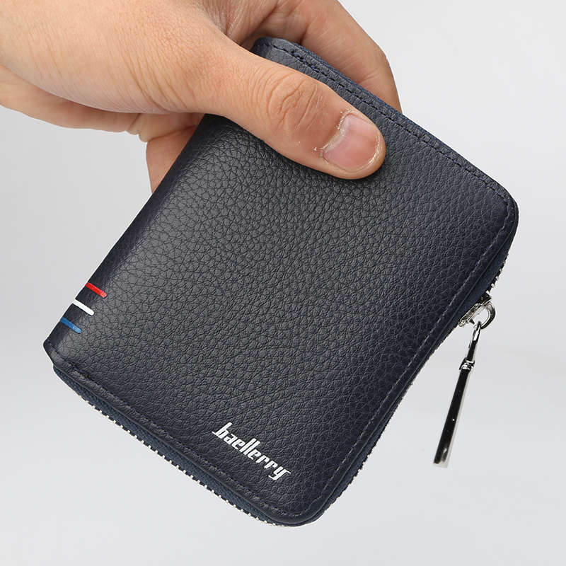 Men Short Desigh Wallet PU Leather Card Holder Purse Male Zipper Coin Pocket Wallet Fashion Brand High Quality Clutch Wallet Man цена