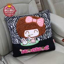 Cute vacuum cotton car seat support cushion back pillows office chair sofa automobile throw pillows women girl car gift