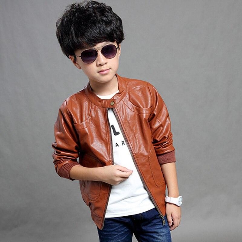 Manteau à Manches Longues En Faux Cuir Pour Garçon Vêtement D Extérieur Pour Enfant Tz46 Printemps Aliexpress