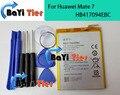 Para huawei mate 7 hb417094ebc 100% nuevo reemplazo de la batería 4100 mah batería adicional para ascend teléfono celular + herramientas