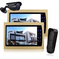 Homefong 10 красочные двери видео домофон комплект Ночное видение Камера монитор для дома безопасности 2 монитора 1 дверной Звонок