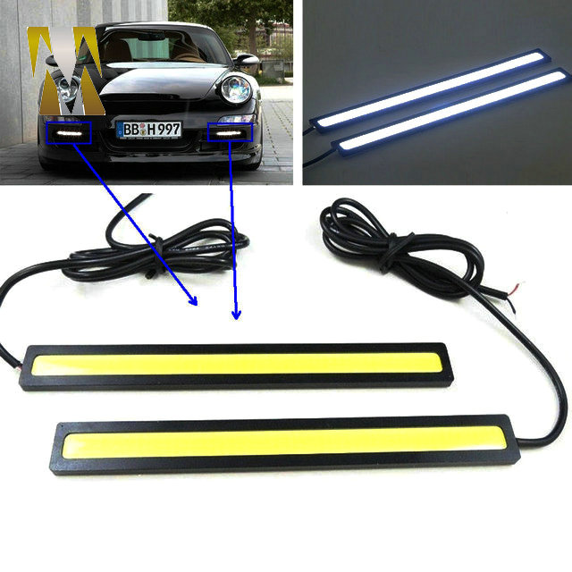 Super Bright Daytime Running light COB Day time Lights LED Car DRL Driving lamp 17cm white