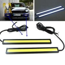 Супер Яркий Дневного света COB дневной Свет СВЕТОДИОДНЫХ Автомобилей DRL Вождения лампы 17 см белый синий цвет