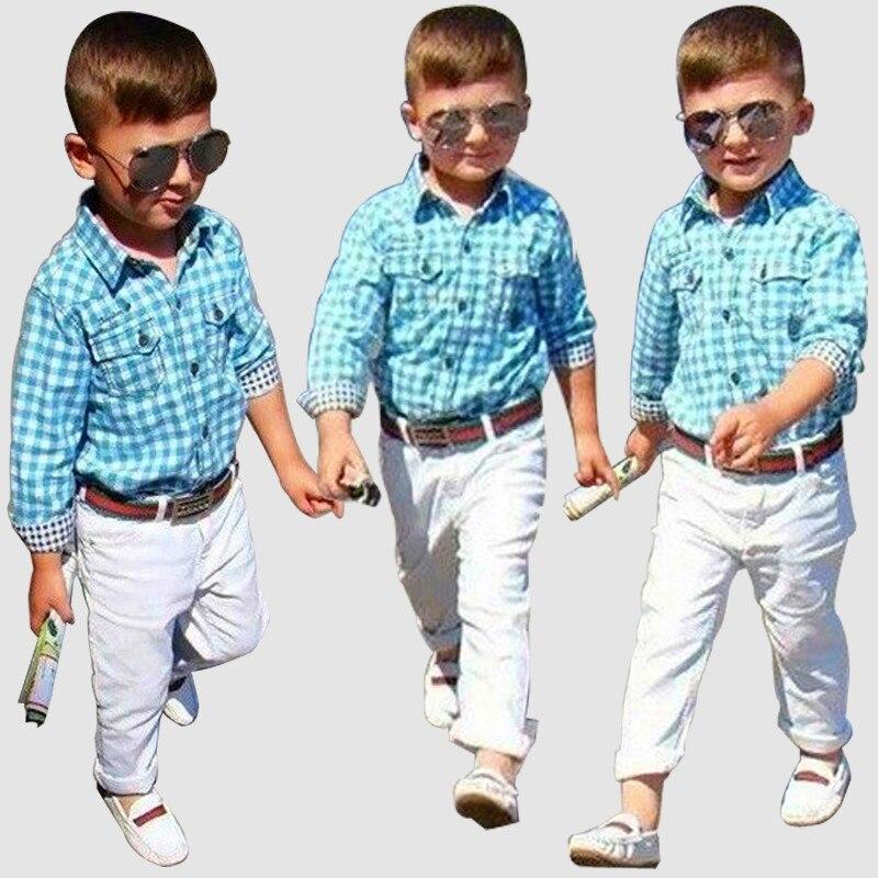 Los bebés varones caballero ropa casual unidades establece algodón jpg  800x800 Varón ropa de niño 7ee87f67697