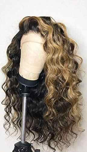 1B медовый блонд подчеркивает свободные волнистые человеческие волосы 13x4 парики на кружеве 150% плотность бесклеевая отбеленные узлы полный парик на шнурке