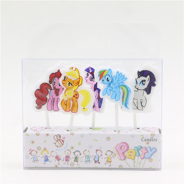 My Little Pony Printed Cartoon Candles Birthday Decorations Party Supplies Cake Topper Accessory Baby Shower Girls Buogie Favors