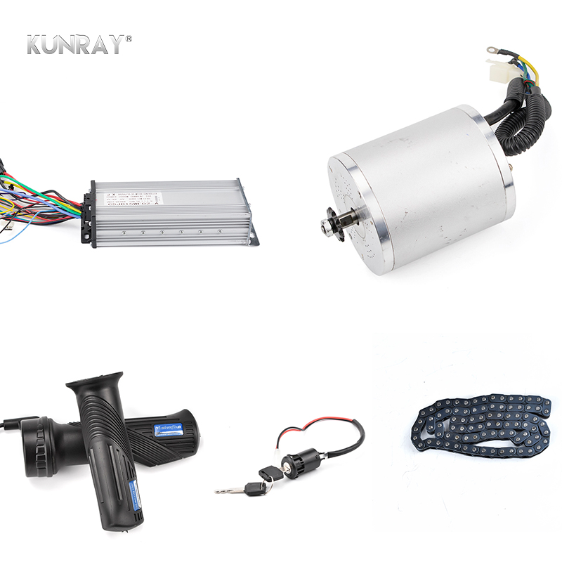 KUNRAY 48V 1500W 1600W DC Brushless Motor Set Electric Bicycle Scooter Motorcycle Conversion Kit With Speed Controller Throttle 36v dc motor speed controller electric bicycle finger throttle with handle bar with battery indicator and light switch