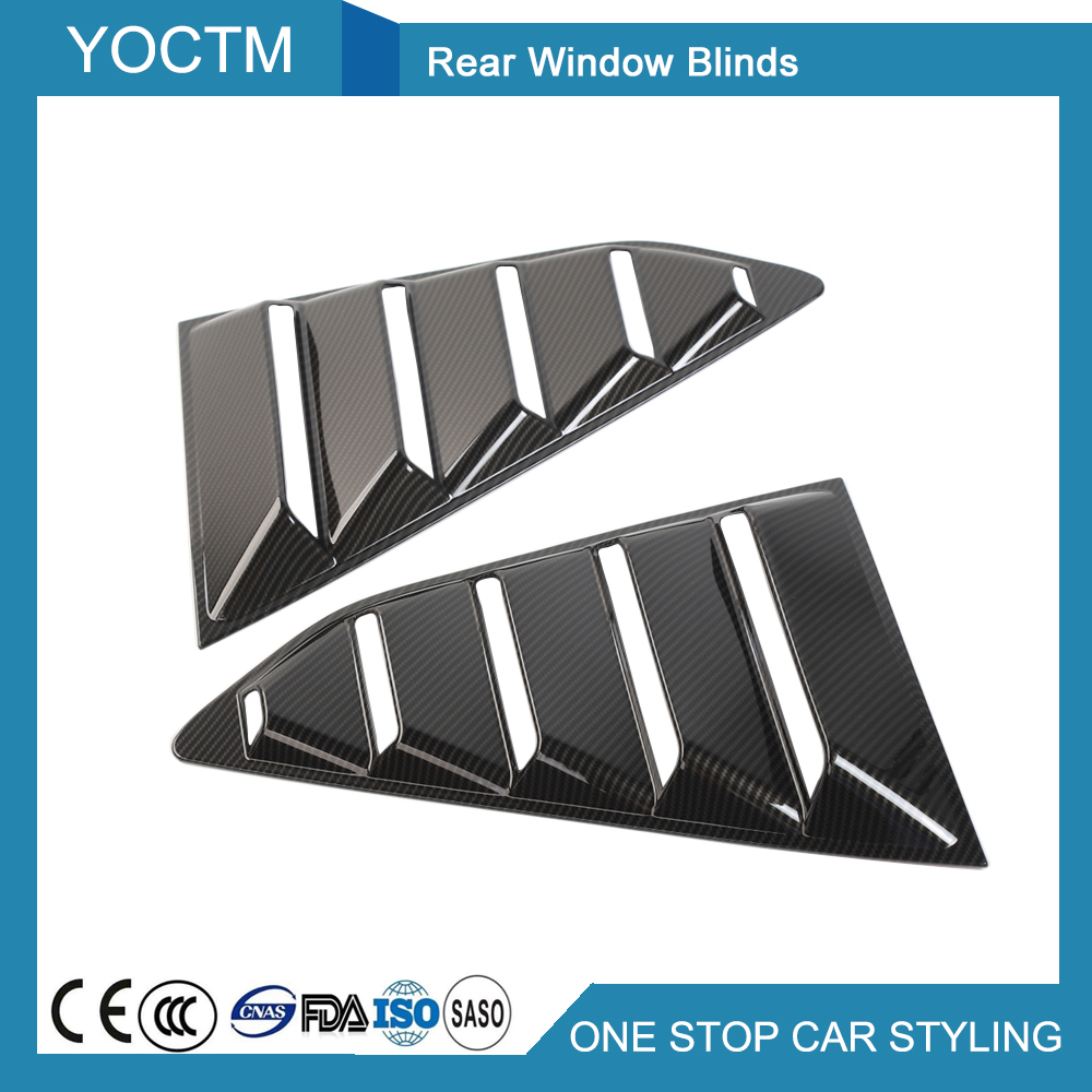 Automobiles & Motorcycles Car Rear Window Blinds Cover Exterior Kits Sticker For Chevrolet Camaro 2017 Light Black/black Primer/carbon Fiber Car Styling Beautiful And Charming